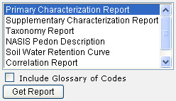 Select the desired report from the list